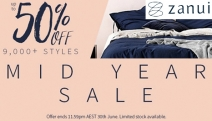 Update Any Room in the House w/ the Massive Zanui Mid Year Sale! Up to 50% Off a Huge Range of Bedlinen, Tableware, Lighting & More. Hurry, Ends Soon