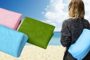 Enjoy Those Beach Days without the Discomfort w/ a Sand-Free Beach Mat! Uses 2 Layers to Trap Sand Underneath the Blanket. Comes in 3 Colours