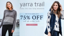 Your New Wardrobe Starts at Yarra Trail End of Winter Sale! Up To 75% Off Casual Chic Outfits to Suit Any Style - Tops, Skirts, Dresses, Pants & More