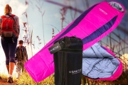 Stay Warm & Dry w/ a Water Resistant Sanctum Sleeping Bag! Sub Zero Rating w/ a Thermally Efficient Contoured Shape. Ideal for Camping Trips
