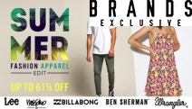 New Season, New Wardrobe w/ the Summer Fashion Apparel Edit Sale! Make the Most of Up to 61% Off Lee, Billabong, Wrangler & More for Ladies & Gents