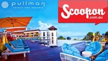 BALI Unwind in 5* Beachfront Luxury at the Pullman Bali Legian Nirwana Resort! 7-Nights for 2 Adults & 2 Kids Under 8, Incl. Massages, Brekkie & More