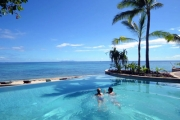 FIJI 5N Family Escape to Treasure Island, Fiji! Nestled in Mamanuca Islands! Oceanview Bure w/ Two Dinners, Transfers & More. 2 Kids Stay & Eat Free