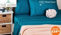 Sleep in Luxurious Bliss w/ this Range of Hotel Quality 1000TC Sheet Sets! Shop Big Brands Gioia Casa, Belmondo Home, Casual Elegance & Lots More