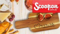 Give a Gift You Know They'll Love w/a Personalised Acacia Wood Cheese Board! Range of Designs from Extra-Small to Large + $7.95 Shipping