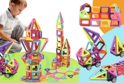 Give Your Child's Imagination Free Reign w/ a Magnetic Building Block Pack! 64 or 113-Piece Packs Builds Spatial Skills. Incl. Handbook & Stickers