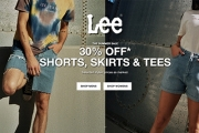 Ditch Tired Tees & Upgrade Your Wardrobe w/ Timeless Summer Staples! Shop the Lee Summer Sale & Grab 30% Off Men's & Women's Shorts, Skirts & Tees