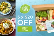 Take the Hassle Out of Meal Times with Hello Fresh! Get $20 Off Your First 3 Boxes with Promo Code SPREETS60. Exclusive to Spreets Customers!