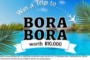 Stunning Azure Waters of Bora Bora Await! Win a Trip to Bora Bora Worth $10k! Enter the Draw for Your Chance to Win a Package to Use on Flights & More!