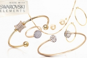 Enjoy the Finer Things in Life w/ this Collection of 18kt Gold-Plated Jewellery, Made w/ Swarovski Elements! Shop Bracelets, Earrings, Rings & More