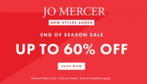 Step Out In Confidence with the Jo Mercer End of Season Sale! Enjoy Up to 60% Off Selected Styles! Shop a Range of Boots, Heels, Sandals & More