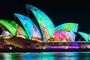 See Sydney Light Up on a Spectacular 90 Min Sydney Harbour Cruise During the VIVID Festival! Incl. Unlimited Tea, Coffee or Soft Drinks & Canapes