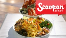 Dine at Multi Award-Winning Aquarius Seafood Restaurant & Enjoy a Mouthwatering Seafood Platter + Bottle of Wine for 2! Two-Tiered Fresh Seafood + Sides