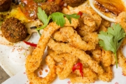 Savour Stunning Middle Eastern Flavours w/ a Shared 6-Dish Feast w/ Wine at Lillah Kitchen! Think Salt & Aleppo Pepper Squid w/ Chili + More