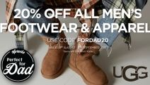 Give Your Dad the Gift He really Wants with 20% Off All Men's Footwear & Apparel with Promo Code FORDAD20! Hurry, Limited Time Only. Plus P&H