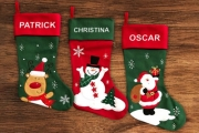 Get into the Holiday Spirit w/ these Personalised Christmas Stockings! Choose from a Range of Festive Patterns & Colours to Create a Truly Unique Gift