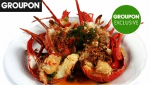 Be Treated to a Seafood Connoisseur Combination Lunch or Dinner Platter w/ Champagne Cocktail for 2 @ Lobster Cave! Ft. Whole Lobster Tails & More