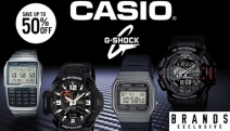 Adventurers at Heart Need Durability They Can Trust! Enjoy Ultimate Timekeeping Toughness with Up to 50% Off Casio G-Shock & Vintage Watches!