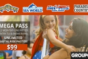 Unlimited 12-Month Mega Pass to Warner Bros. Movie World, Sea World, Wet'n'Wild Gold Coast & Paradise Country for Just $99! Incl. Ride Photography
