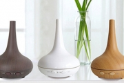 Freshen up Your Home or Office Space w/ this Ultrasonic Teardrop Diffuser w/ Oils! Choose From 3 Colours, Ft. LED Light w/ Seven Changing Colours
