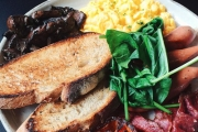 Enjoy an All-Day Brekky Meal with Coffee at Glassy Junction! Think Toast, Banana Bread, Chicken Wrap, Fruit Loaves or Assorted Muffins & More