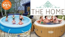 Forget Crowded Beaches this Summer! Shop Up to 55% Off this Range of Inflatable Pools! Styles Incl. Inflatable Spa Hot Tubs, Swimming Pools & More