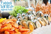 Swim In for An All-You-Can-Eat Seafood Buffet with a Glass of Wine for Two @ 4.5-Star Mantra Legends Hotel in the Thriving Heart of Surfers Paradise!