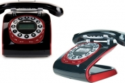 Bring a Little Retro Back w/ a Cordless Rotary Dial Phone! Feat. Caller Display, Answering Machine, Speakerphone, Phonebook for 50 Numbers & More