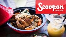 Tuck Into an Arabian Meal w/ $80 to Spend on Food & Drinks @ Tajeen Exotic Arabica! Moroccan Garlic Prawns, Eye Fillet Steak, Harissa Chicken & More