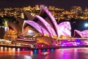 Get a Front Row Seat for VIVID Festival! See Spectacular Light Installations on a 2-Hour Luxury Cruise, Incl. Glass of Sparkling & Canapes