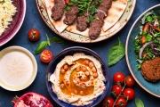 Tantalise Your Tastebuds w/ a 13-Dish Mediterranean Banquet + Drink, Lebanese Coffee & More for 2 at Mediterranean Mezza Restaurant! Sambousik & More