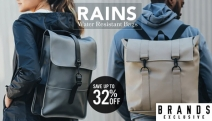 Sport a New Stylish Daypack with this Collection of RAINS Bags! Strong, Lightweight & Water Resistant! Save Up to 32% Off Backpacks, Duffle Bags & More
