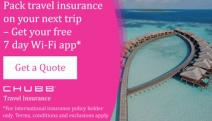 Pack Travel Insurance On Your Next Trip – Get Your Free 7 day Wi-Fi App* w/ Chubb Travel Insurance. Get a Quote Now! *Terms and Conditions Apply