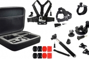 Get the Most Out of Your GoPro w/ a 25-Piece GoPro Accessory Set Incl. a Wrist Strap Mount, Chest Harness Mount, Buckle Mount & More for Only $39!