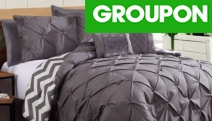 Bring Hotel Luxury into Your Home w/ 1000TC 7-Pc Pinch Pleat Comforter Set! Machine-Washable in Double - King Sizes. Available in Five Colours