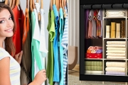 Running Out of Space in Your Wardrobe? Shop this Space Saving Portable Wardrobe! Ft. Large Storage Capacity w/ Plenty of Hanging, Shelf & Shoe Space