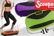 Workout in the Comfort of Your Own Home with a Vibration Fitness Plate with Resistance Bands! Aims to Increase Strength & Tone Muscles. 5 Colours