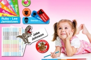 Keep Track of Your Little One's Things w/ Personalised Kids' Name Labels - Just $9, Delivered! Design-Your-Own Using 50 Fun Themes!