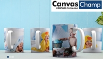Give Your Morning Cuppa a Personalised Touch w/ Up to 75% Off Custom Photo Mugs from Canvas Champ! Insert Photos, Logos & Messages! Great Gift Idea