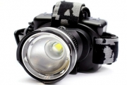 See Clearly Day & Night w/ a 1,000LM Zoomable LED Headlamp! Ideal for Cycling, Camping & More. Feat. Adjustable Strap & 3 Light Modes