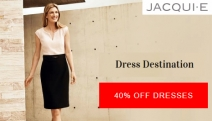 Dress Up for Every Occasion w/ this Collection of Jacqui E Dresses! Enjoy 40% Off a Range of Flattering Styles from Smart Workwear to Weekend Casuals