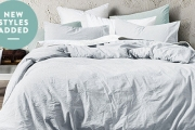 You'll Have Sweet Dreams w/ Relaxed & Comfortable Bedding in Vintage Linen, Overdyed Denim & Velvet! Quilts, Sheets, Cushions & More