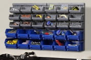 Neat Freaks, Get Organised with a 30-Bin Wall Mounted Storage Rack for Only $29! Perfect for Keeping Tools and Other Hardware Neat and Tidy