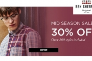 Dress Up Your Gent in Stylish Attire w/ the Ben Sherman Mid-Season Sale! Ft. 30% Off Selected Styles Incl. Coats, Casual Tees, Versatile Polos & More