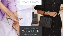 Step Out in Style & Take Further 20% Off Sale Items @ Tony Bianco! CODE: SALE20. Shop On-Trend Handbags, Heels, Boots, Sandals, Slides & More