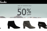 Ladies Be Sure to Shop the Clarks End of Season Sale! Style & Comfort Fuse Together w/ Up To 50% Off Ankle Boots, Pumps, Sneakers, Flats & More