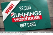 It's Time for a Household Spruce! Transform Your Home this Spring w/ a Bunnings Gift Card Worth $2,000! Get Your Free Entry in to Go into the Draw!