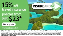 Go On Holidays w/ No Worries Thanks to Australia's Specialist InsureandGo! Get 15% Off Travel Insurance, Customised to Your Needs - Quick, Ends Soon!