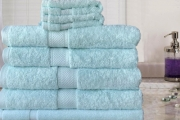 Bathe in Absolute Luxury with 100% Egyptian Cotton Towel Sets! Aims to Provide Softness & Absorbency in 7 or 14-Pc Set in Choice of Colour!