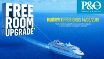 Live Out Your Dream Holiday with the Free Room Upgrade Sale from P&O Cruises! Valid on Select Room Categories on Select Sailings. Hurry, Ends 14 May